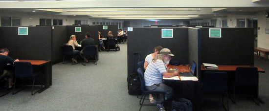 The Grossmont tutoring center, on the second floor of the tech-mall (Photo--Russ Lindquist)